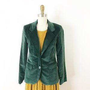 ⭐️NEW ARRIVAL Vintage Green Velvet Blazer Jacket S
